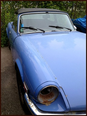 Dad's 1973 Triumph Spitfire after 40 years of neglect